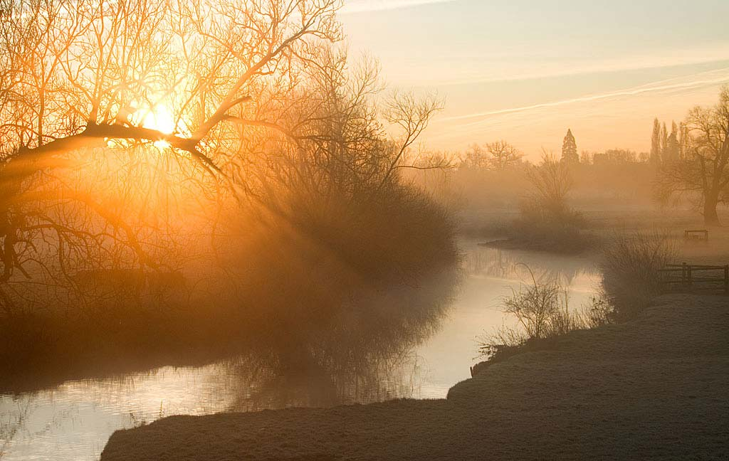 Grantchester Meadows and mist
