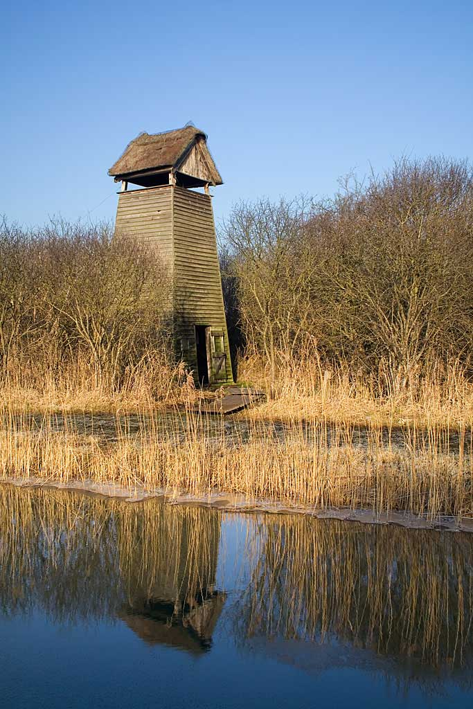 Tower hide at Wicken Fen nature reserve
